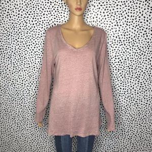 Surroundings pink linen blouse size large